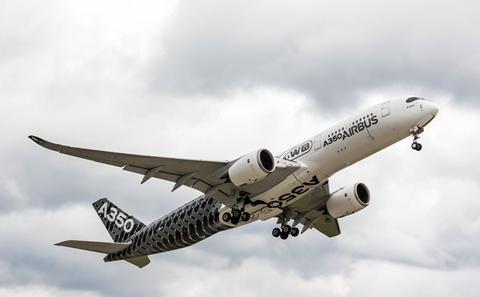 Airbus 350 in flight